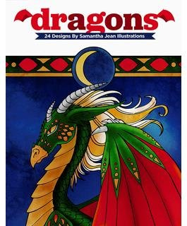Leisure Arts Dragons Coloring Book