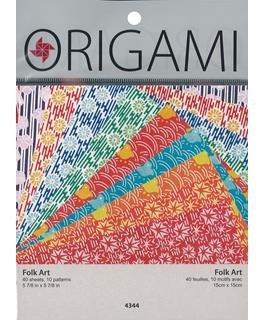 Yasutomo Origami Paper 5-7/8 Folk Art Assorted 40pc