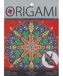 Yasutomo Origami Paper 5-7/8 Artistic Kaleidoscope 24pc