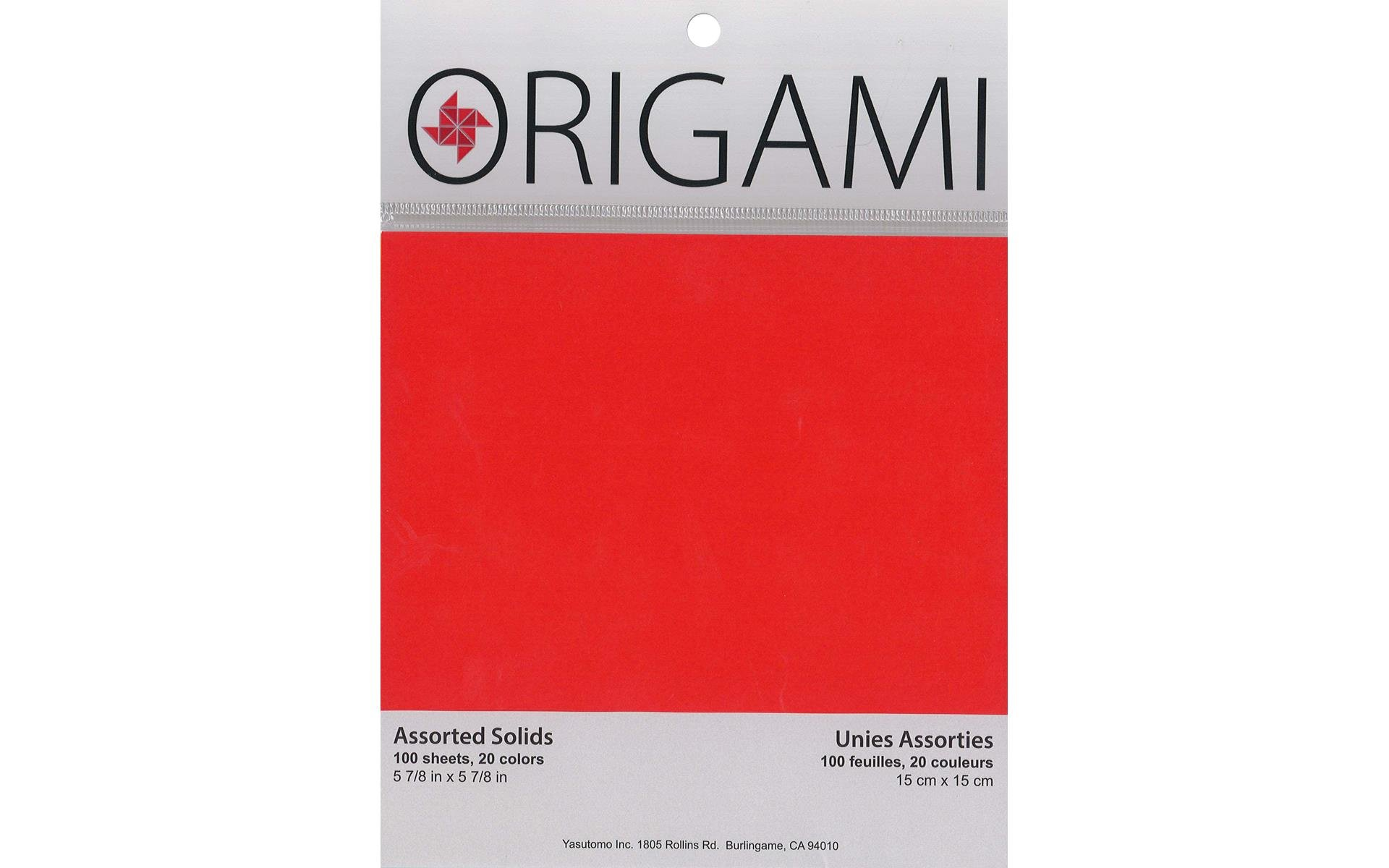 Yasutomo Origami Paper 5-7/8 Solid Assorted 100pc
