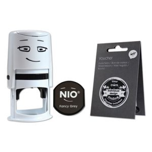 Nio Stamp with Voucher and Fancy Gray Ink Pad