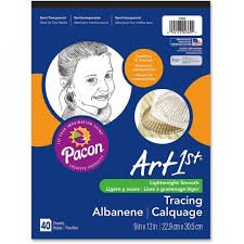 PACON TRACING PAPER 9X12 40 SHEETS