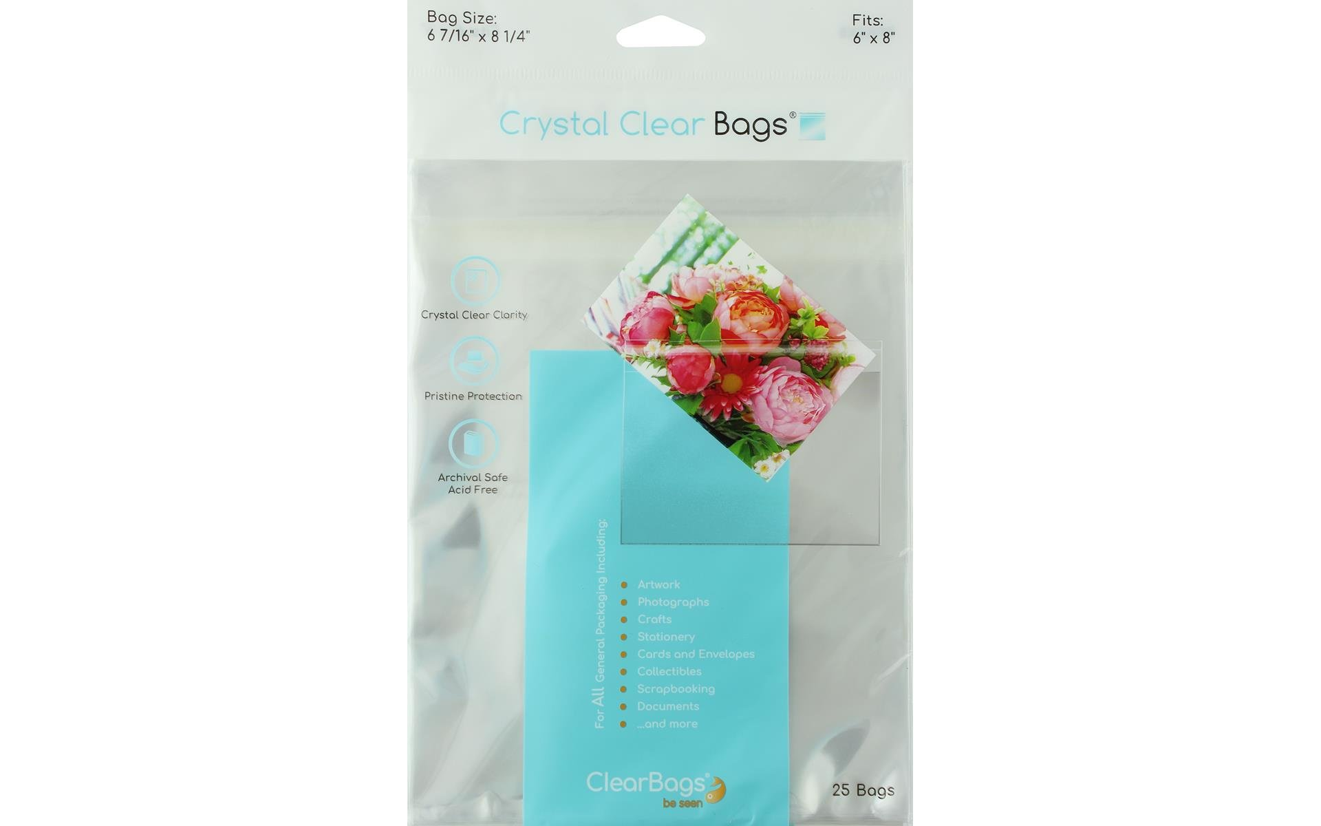 ClearBags Crystal Clear Bag 6x8