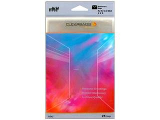 Clear Bag 4.25x 5.5 Stationery 25pc