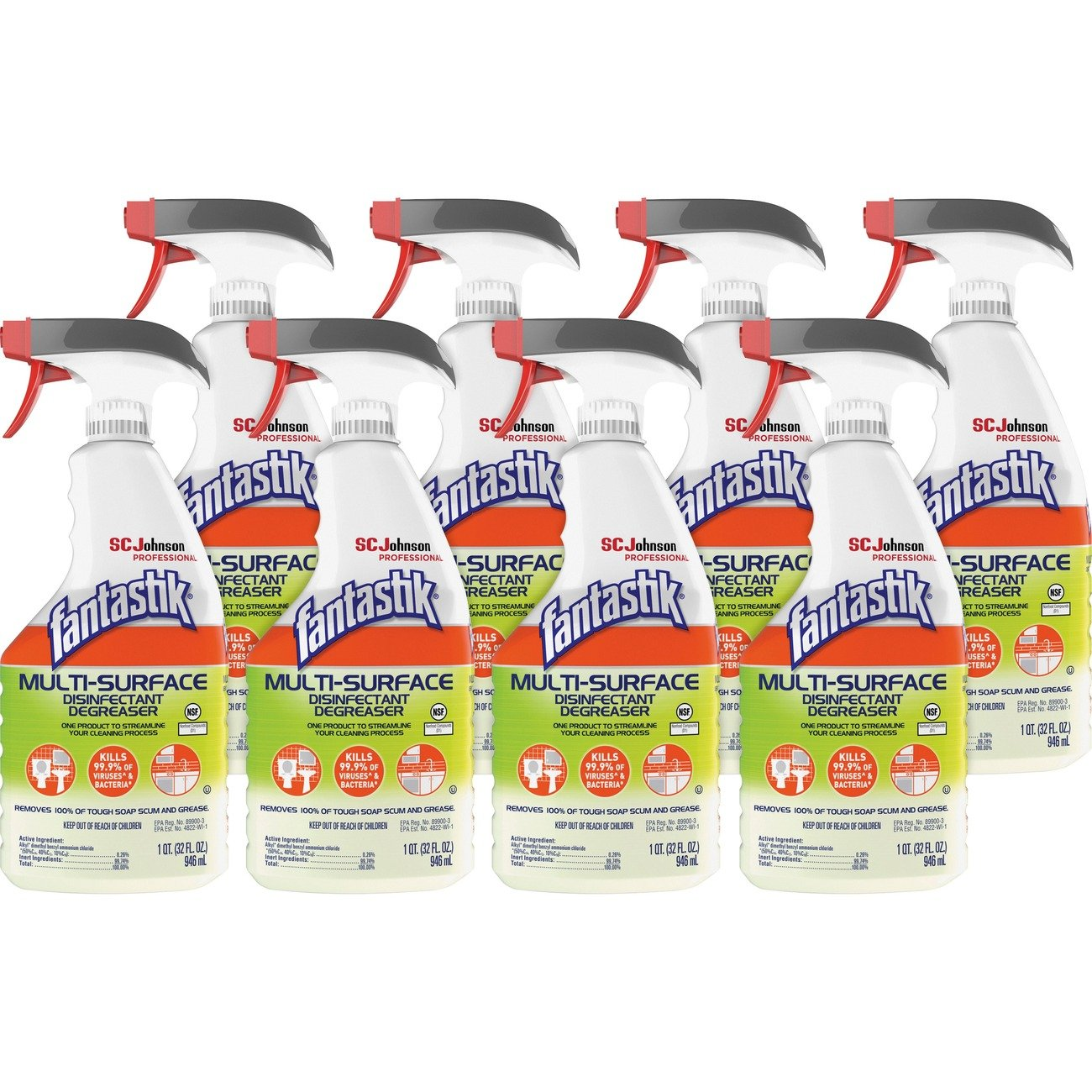 Fantastik Disinfectant Degreaser Spray - 32 fl oz (1 quart)