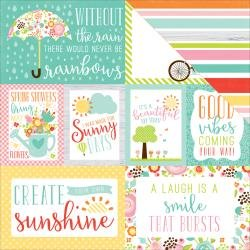 Spring 12x12 paper, Journaling Cards