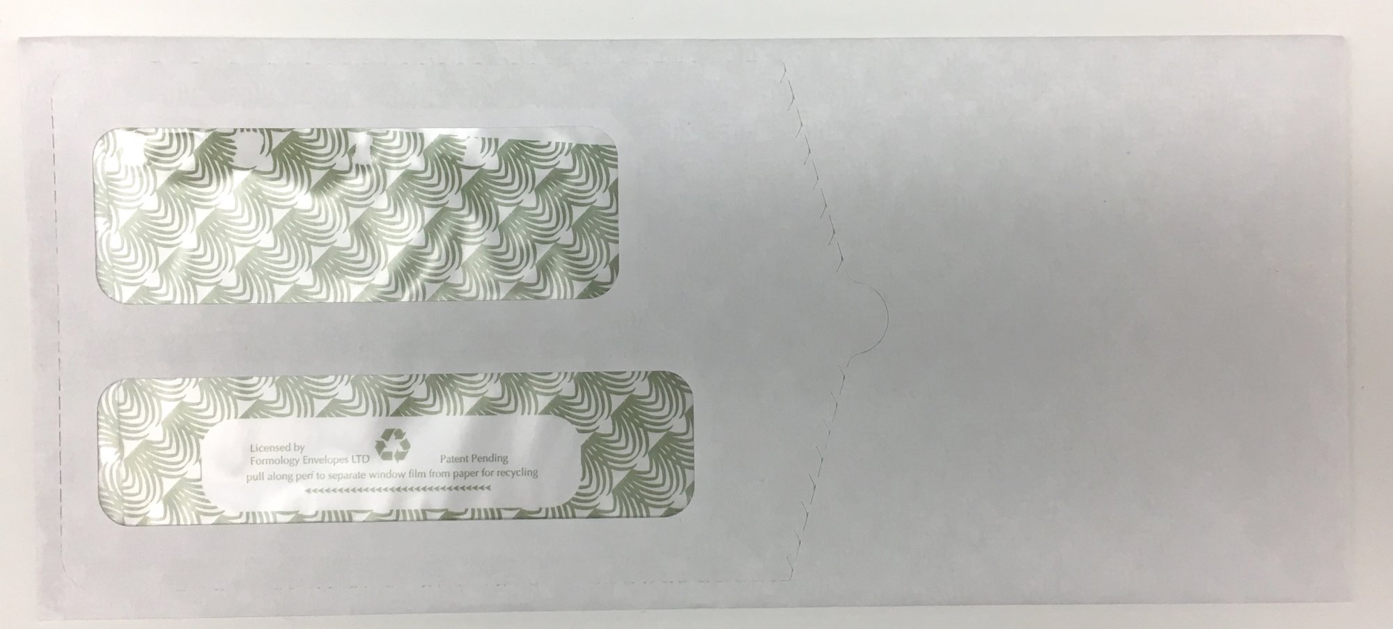 ENVELOPE DOUBLE WINDOW SECURITY #9