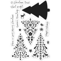 Hero Arts Color Layering Clear Stamps 4X6-Nordic Tree