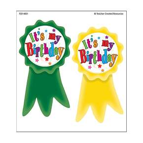 Birthday Ribbons WearEm Badges CLEARANCE