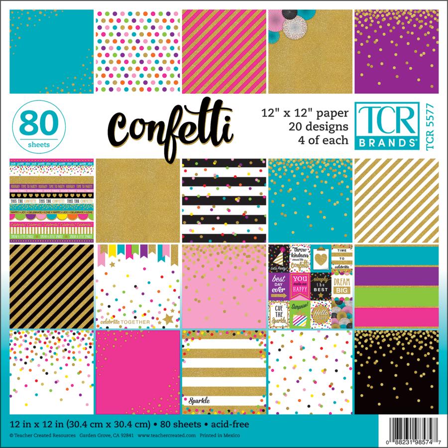 Confetti 12x12 Paper Pack