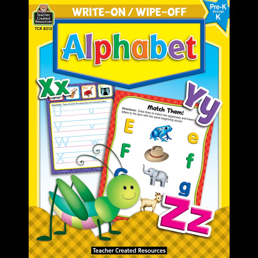 Alphabet Write-On/Wipe-Off Book