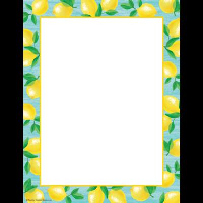 Lemon Zest Computer Paper