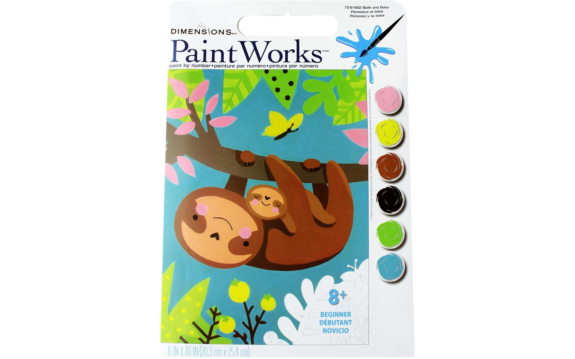 Paint Works Paint By Number Kit 8x10 Sloth & Baby