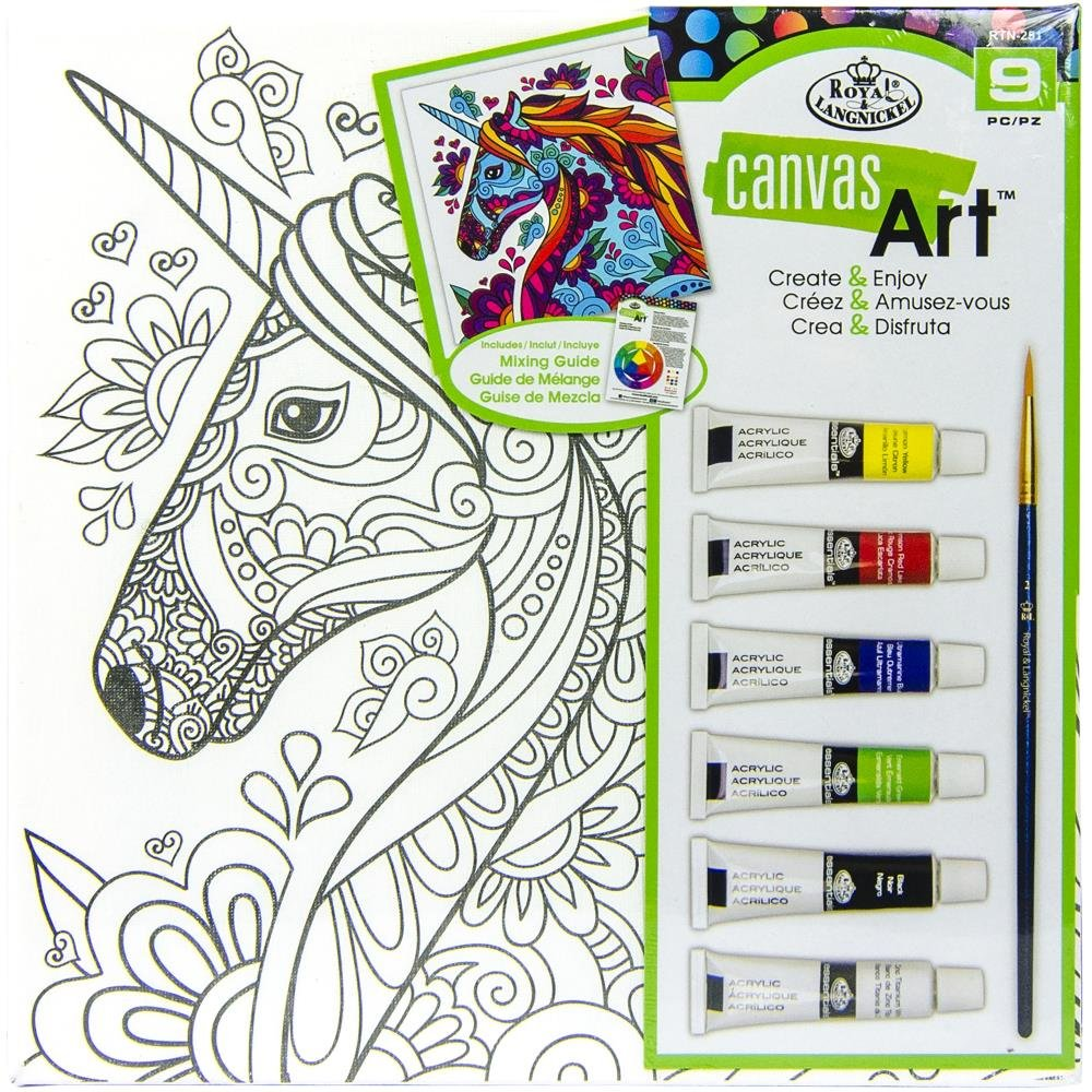 Canvas Art Paint Kit 10X10-Unicorn