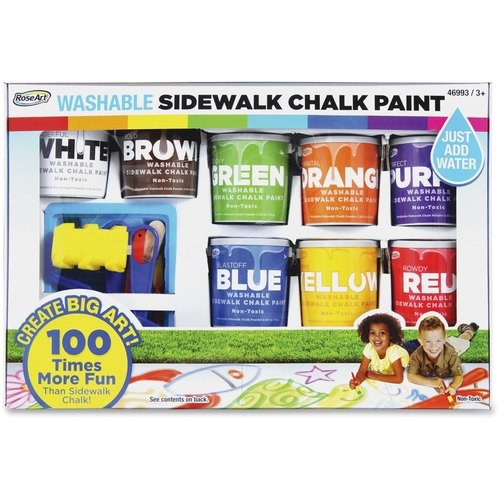 SIDEWALK CHALK PAINT, WASHABLE