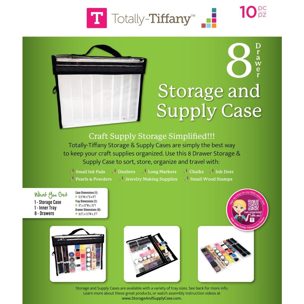 Totally Tiffany Storage & Supply Cases With 8 Drawers-