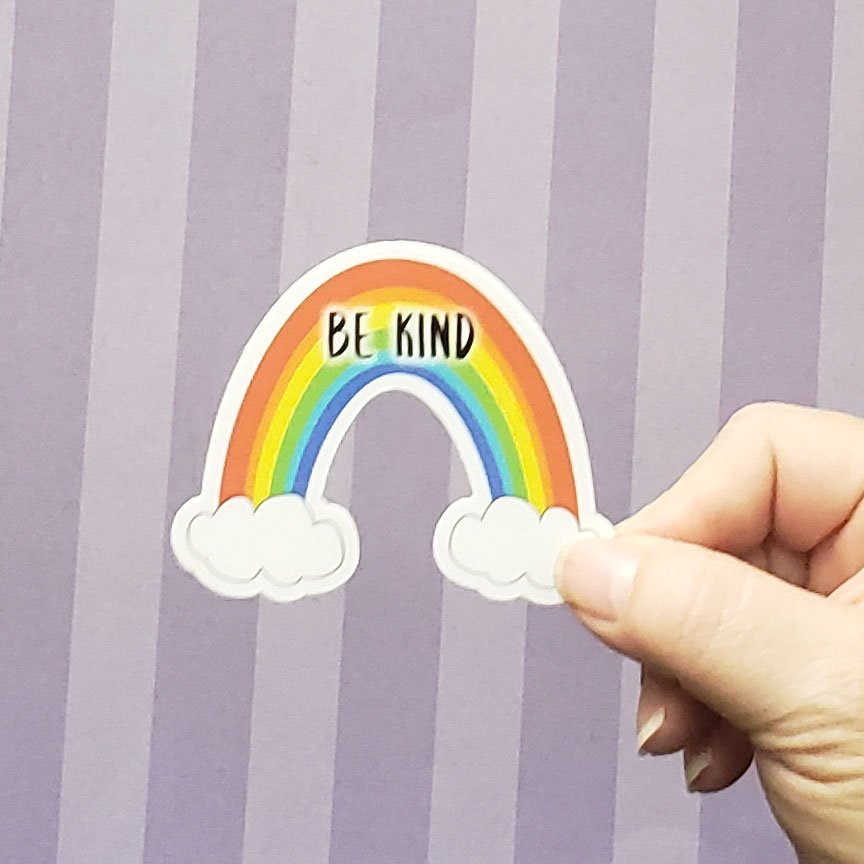 Decal - BE KIND RAINBOW