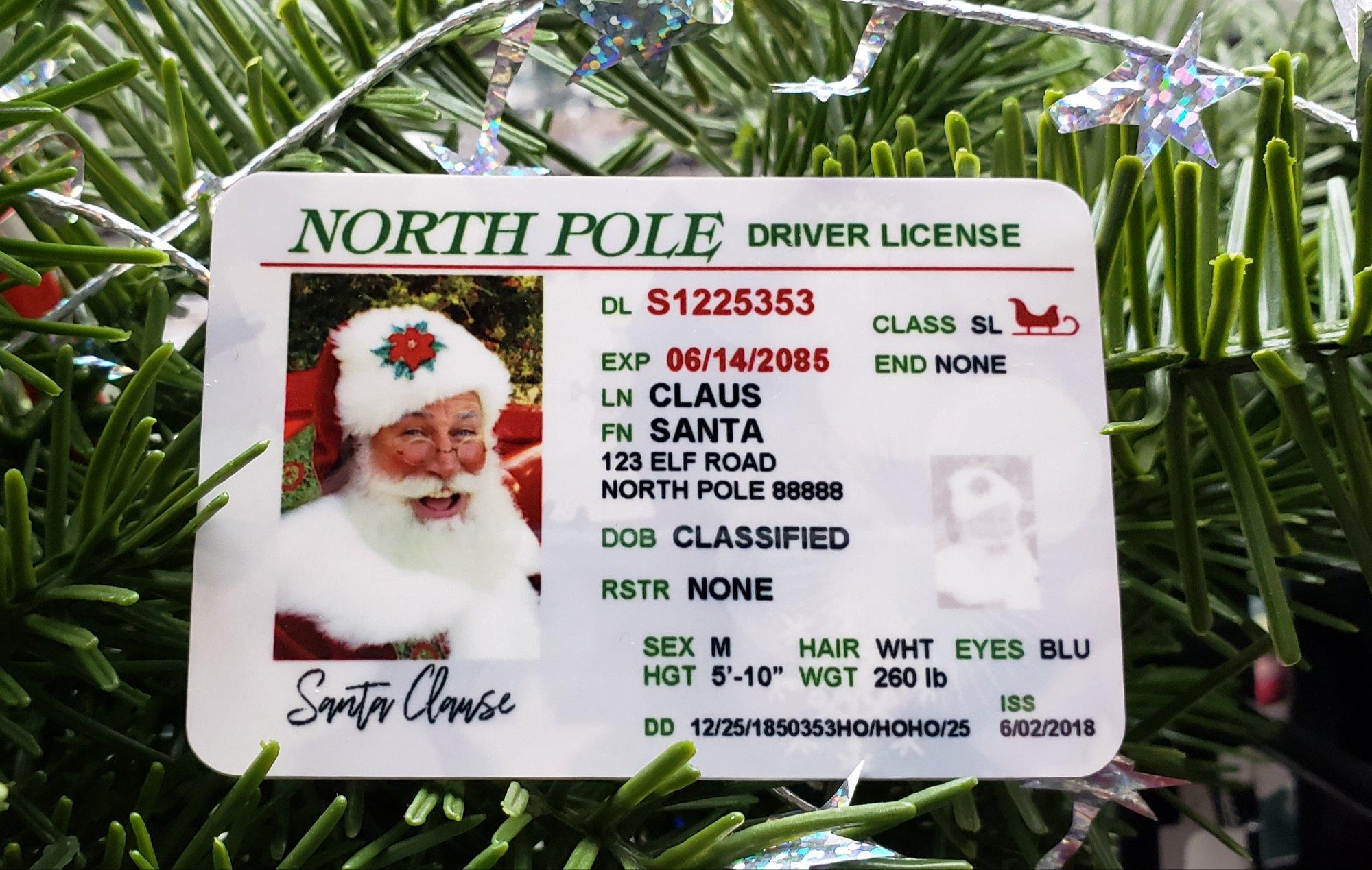 Santa's Driver License