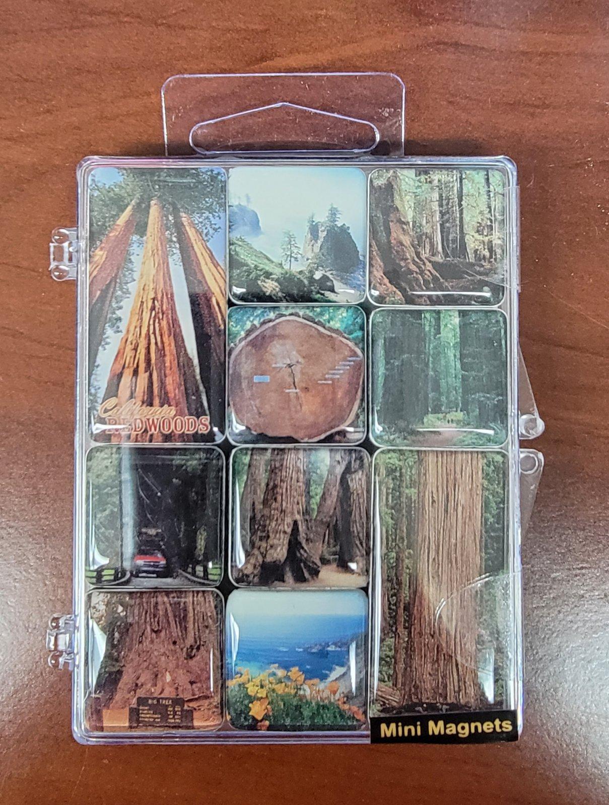 Mini Magnet Set, California Redwoods