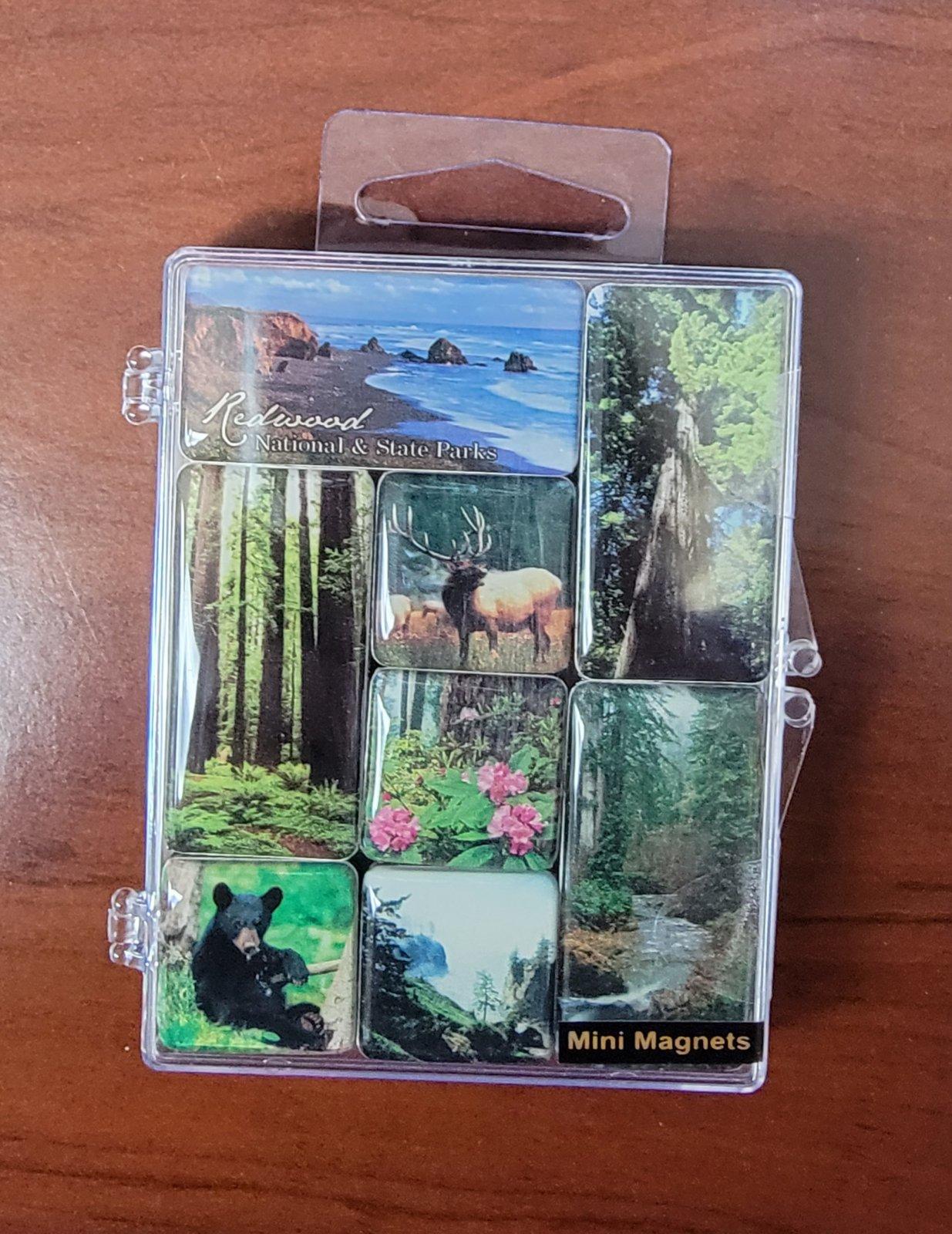 Mini Magnet Set, Redwood National & State Parks