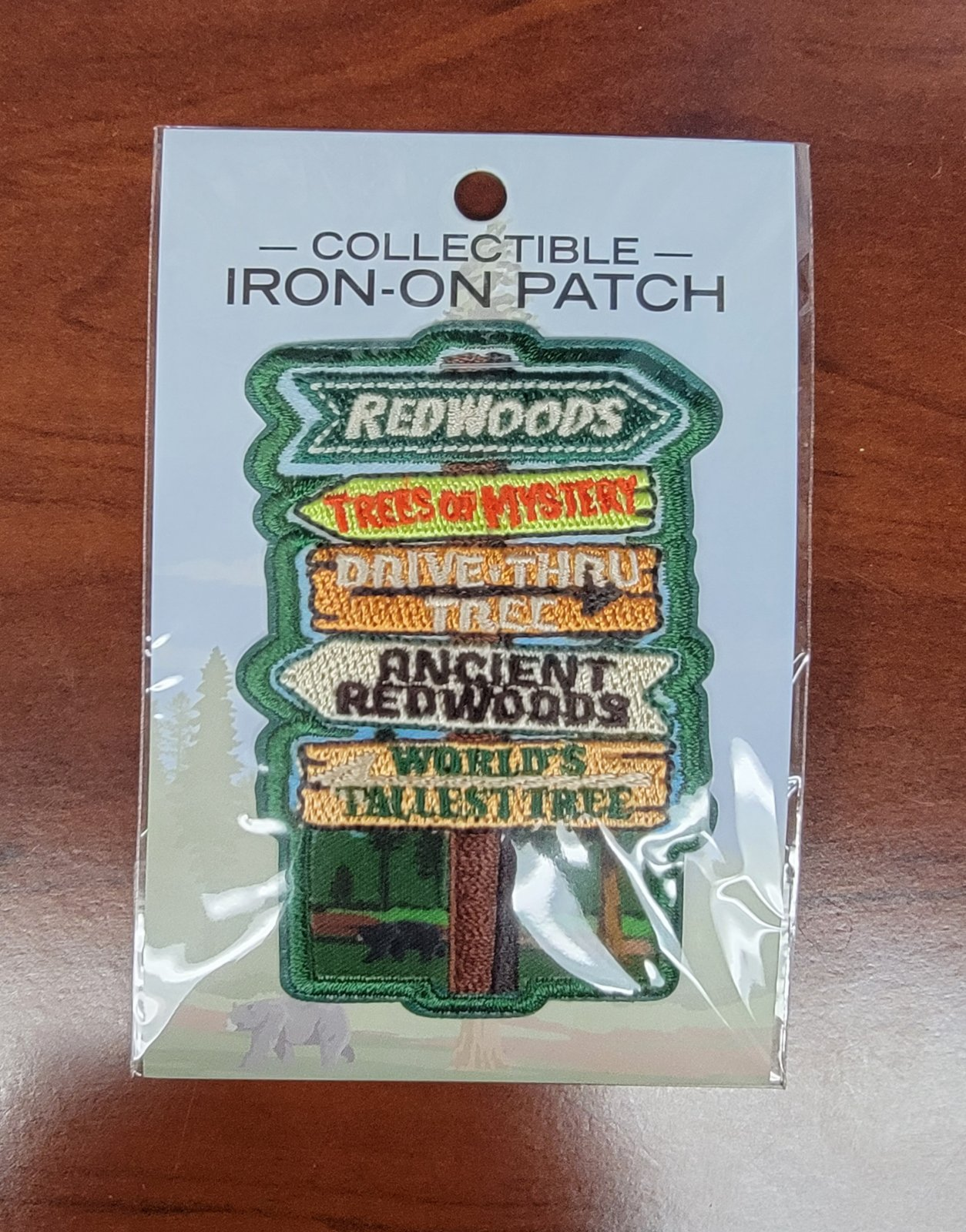 Collectible Iron-on Patch, Redwoods / California
