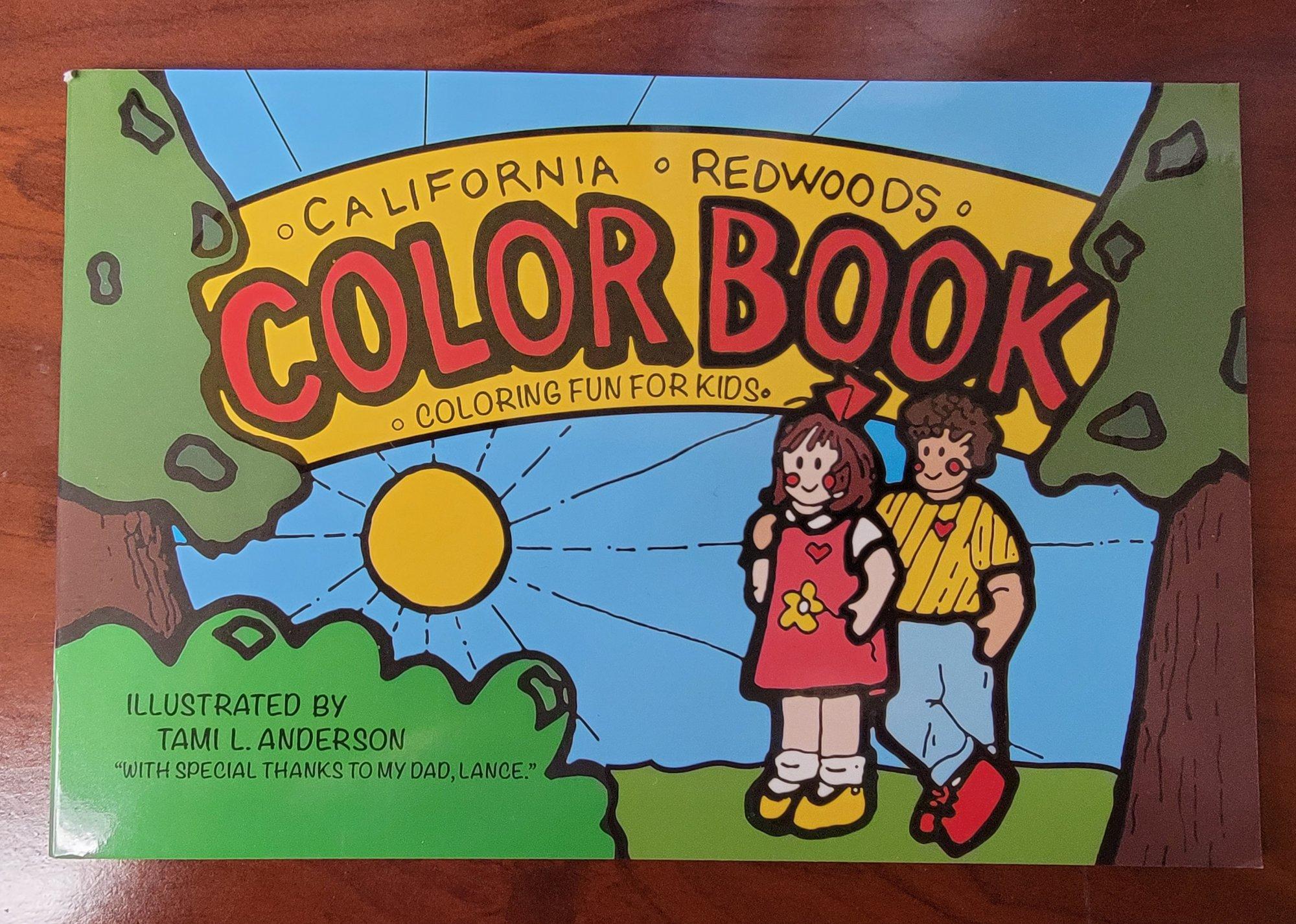 Coloring Book California Redwoods