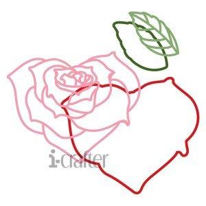 Rose Heart die set