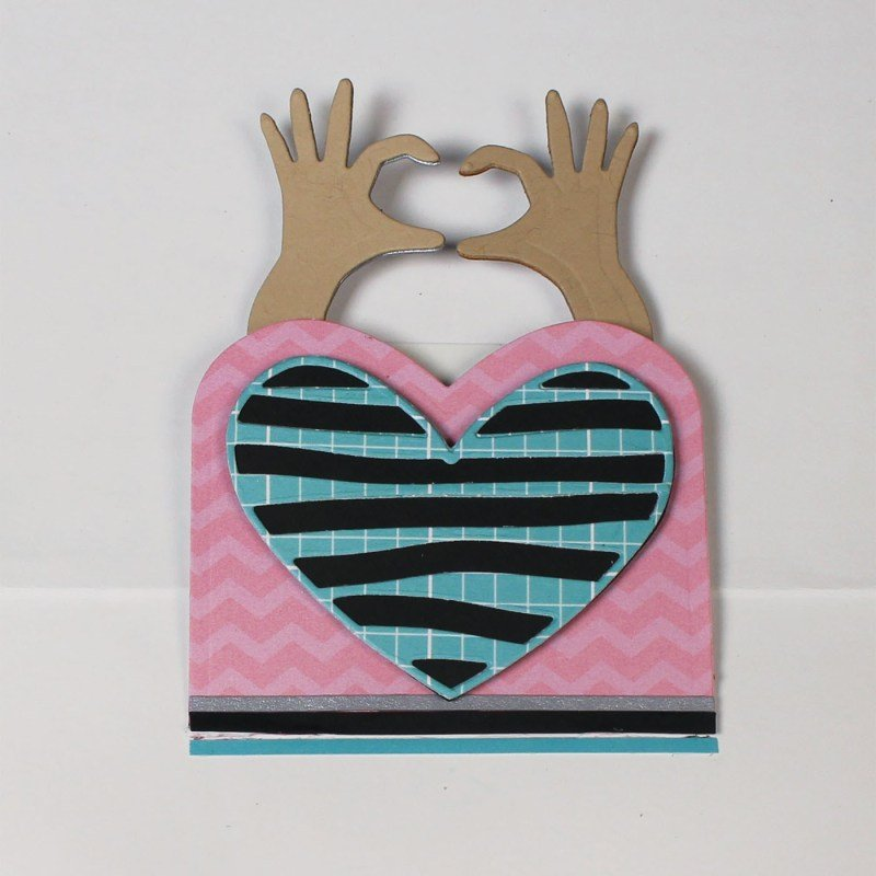 Heart Hands Wiper Insert Die Set