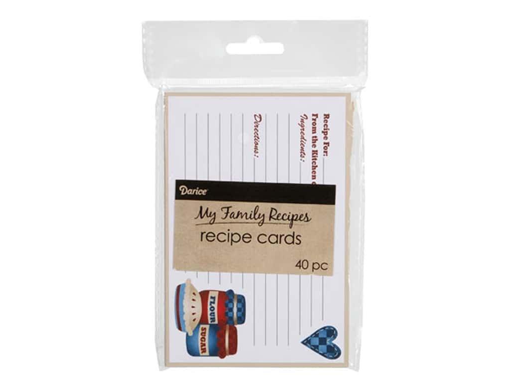 Darice RECIPE CARDS
