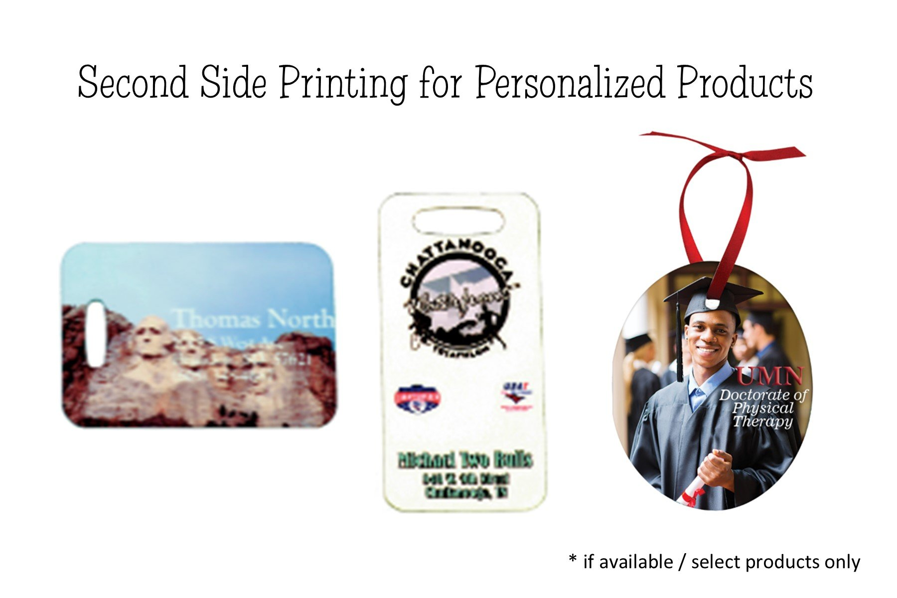 Personalized Product Second Side for Select Products