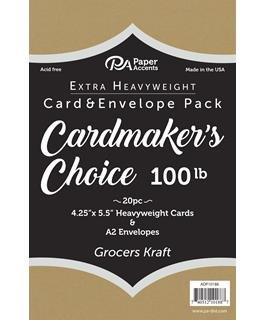 Paper Accents Card & Envelopes Cardmakers Choice 41⁄4x51⁄2 100lb Grocers Kraft 20pc