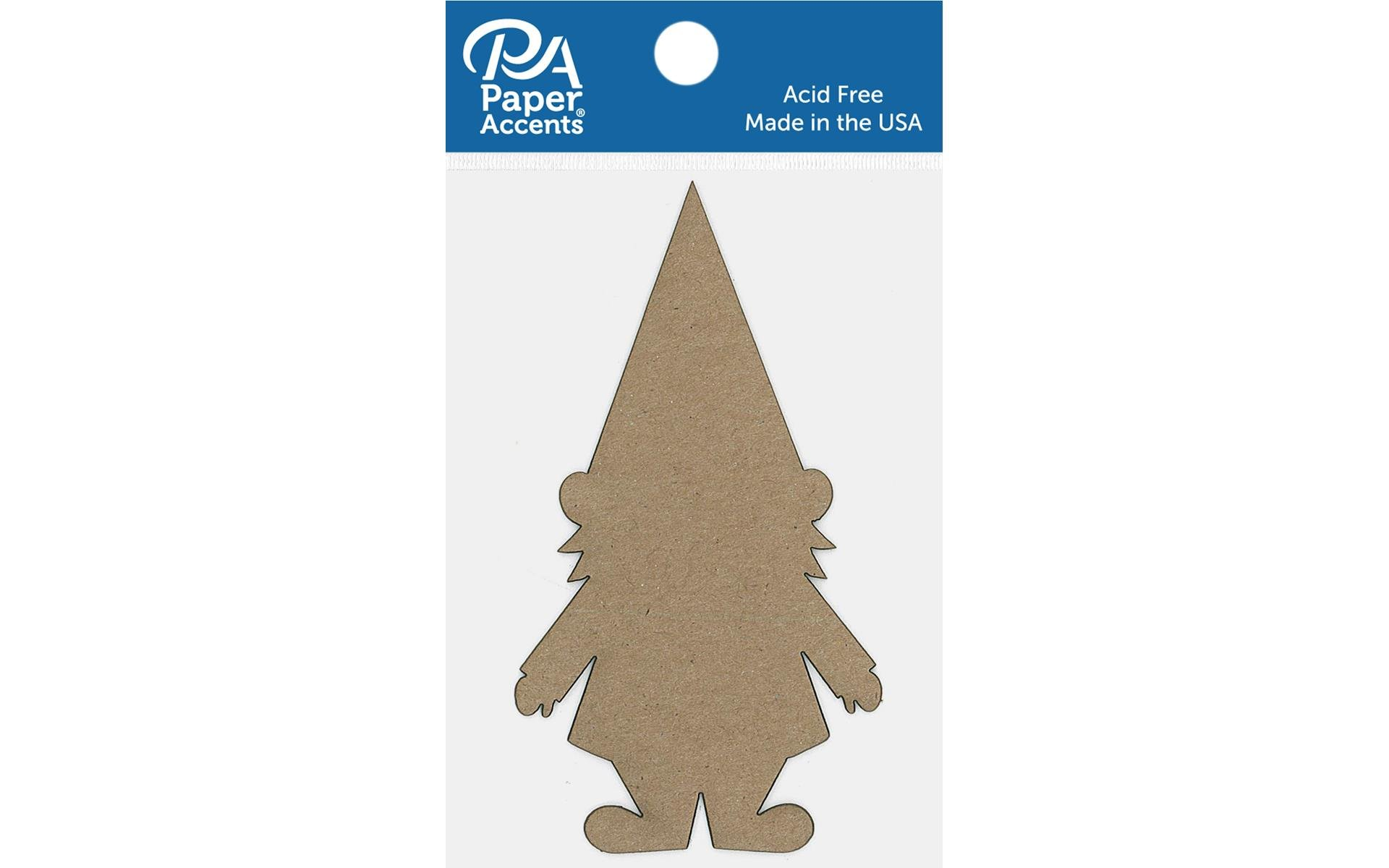 Paper Accents Chip Shape Gnome Natural 6pc