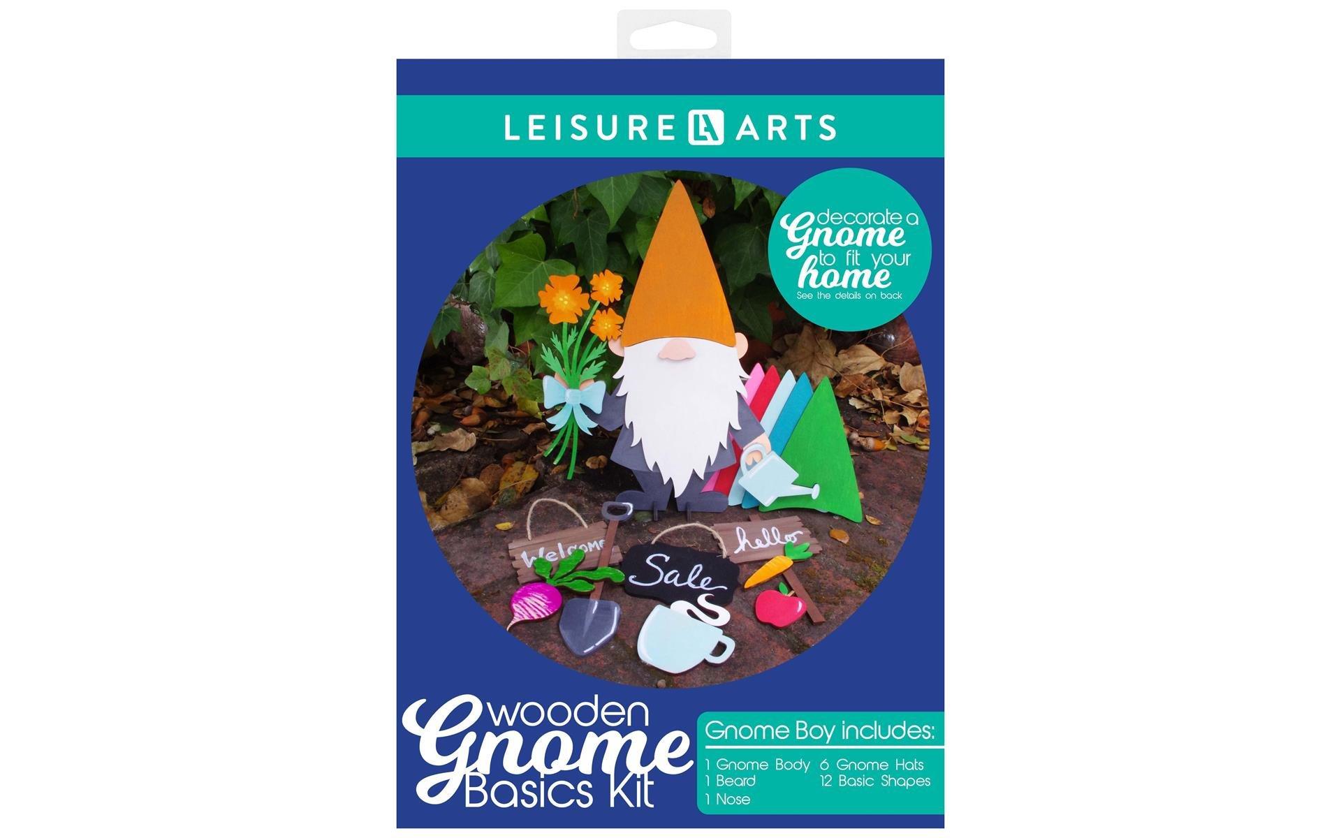 Leisure Arts Wood Gnome Kit Basics Boy