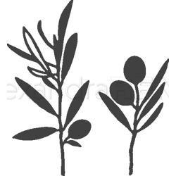 Alexandra Renke Dies Olive Branches (Metal Die)