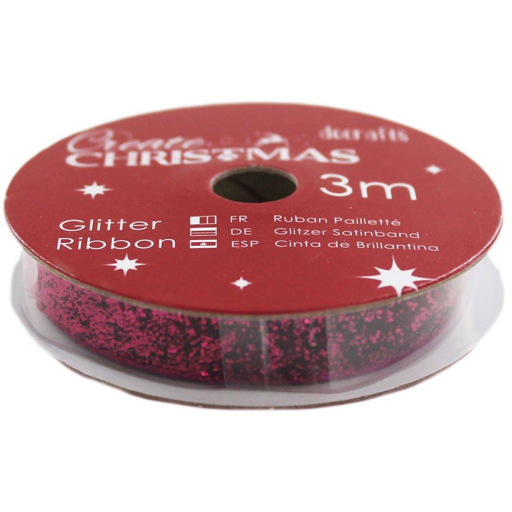 PURPL GLIT-CREATE XMAS RIBBN 3M