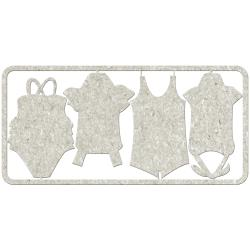 FAB SCRAPS SWIMSUITS CHIPBOARD