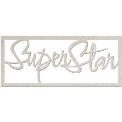 SUPER STAR-DIE-CUT CHIPBRD WORD