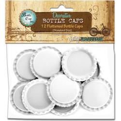 WHITE     -FLATTENED BOTTLE CAP