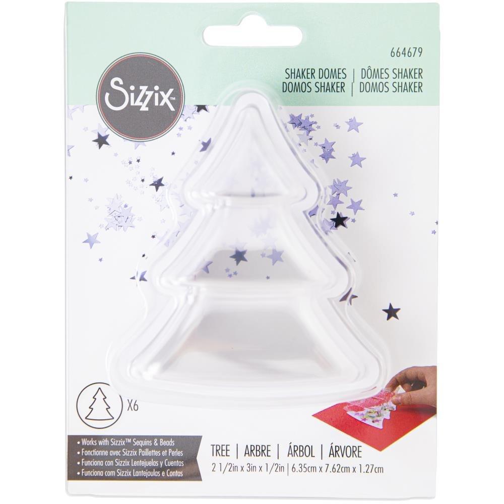 Sizzix Making Essentials Shaker Domes-Tree 2.5X3, 6/Pkg