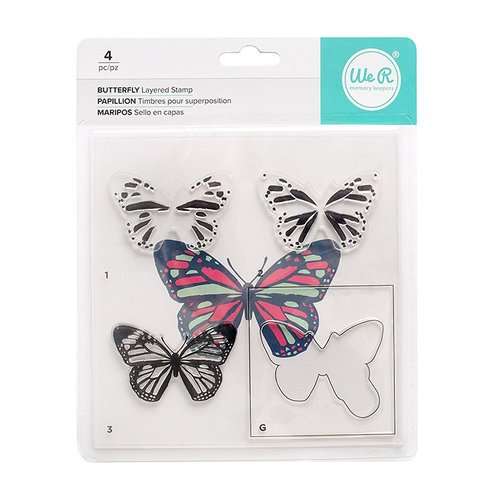BUTTERFLY -WE R LAYERED STAMP