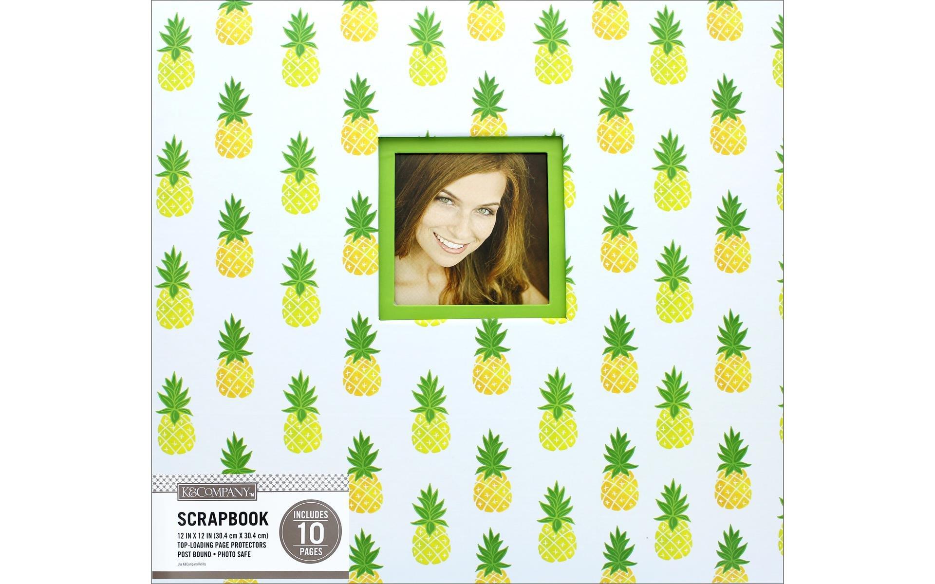 K&Company Scrapbook Album 12x12 Window Pineapple