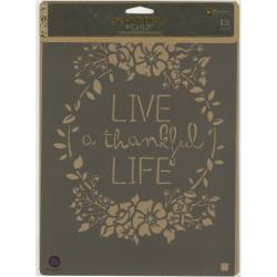 LIVE LIFE -STENCIL 8X10