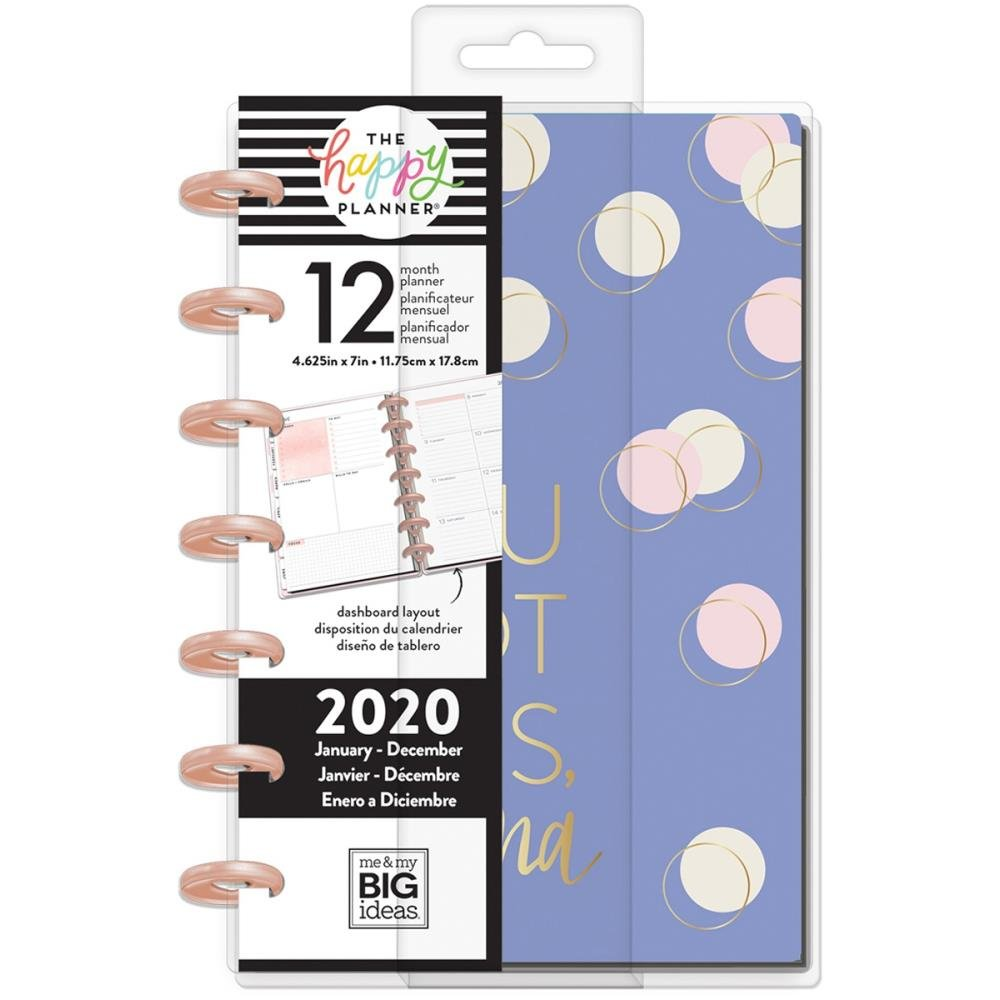 Happy Planner 12-Month Dated Mini Planner 7X4.625 -Modern Mom, Jan - Dec 2020