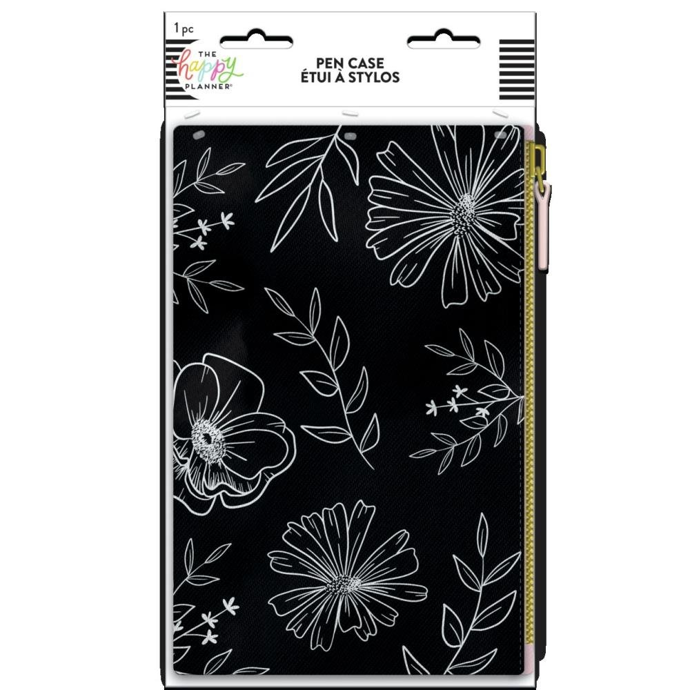 Happy Planner Classic Banded Pen Pouch 5.5X8.5-Neutral Florals