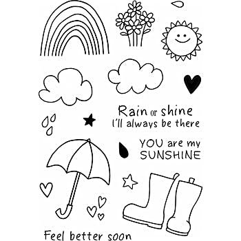 RAIN OR SH-CLEAR STAMPS 4X6