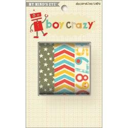 3 ROLLS/PK-BOY CRAZY DECOR TAPE - CLEARANCE