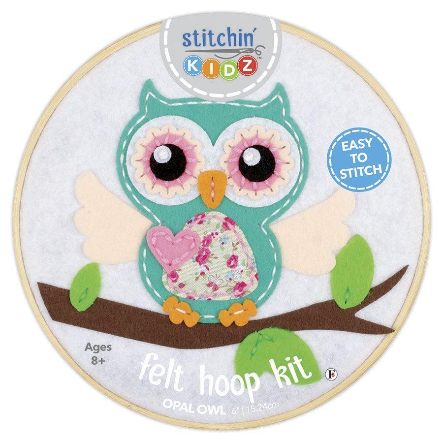 Stitchin' Kidz Felt Hoop Kit Owl