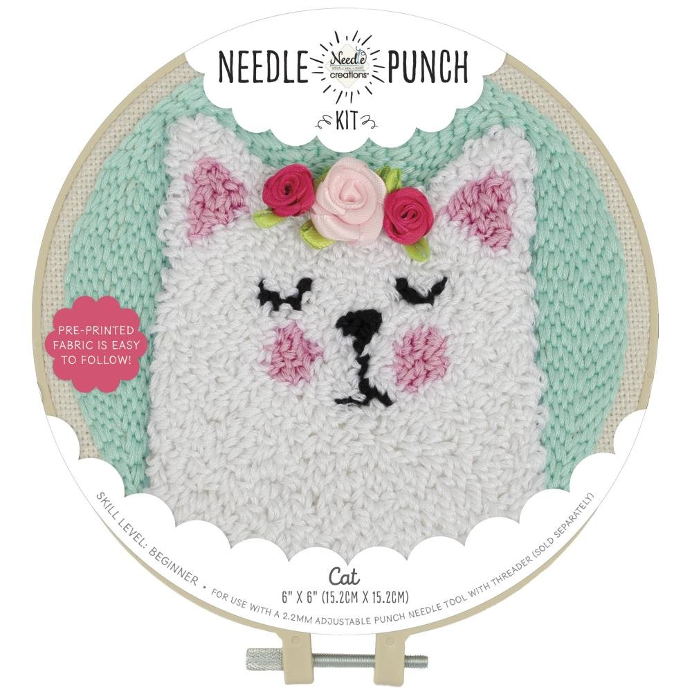 Fabric Editions Needle Creations Needle Punch Kit 6 Cat