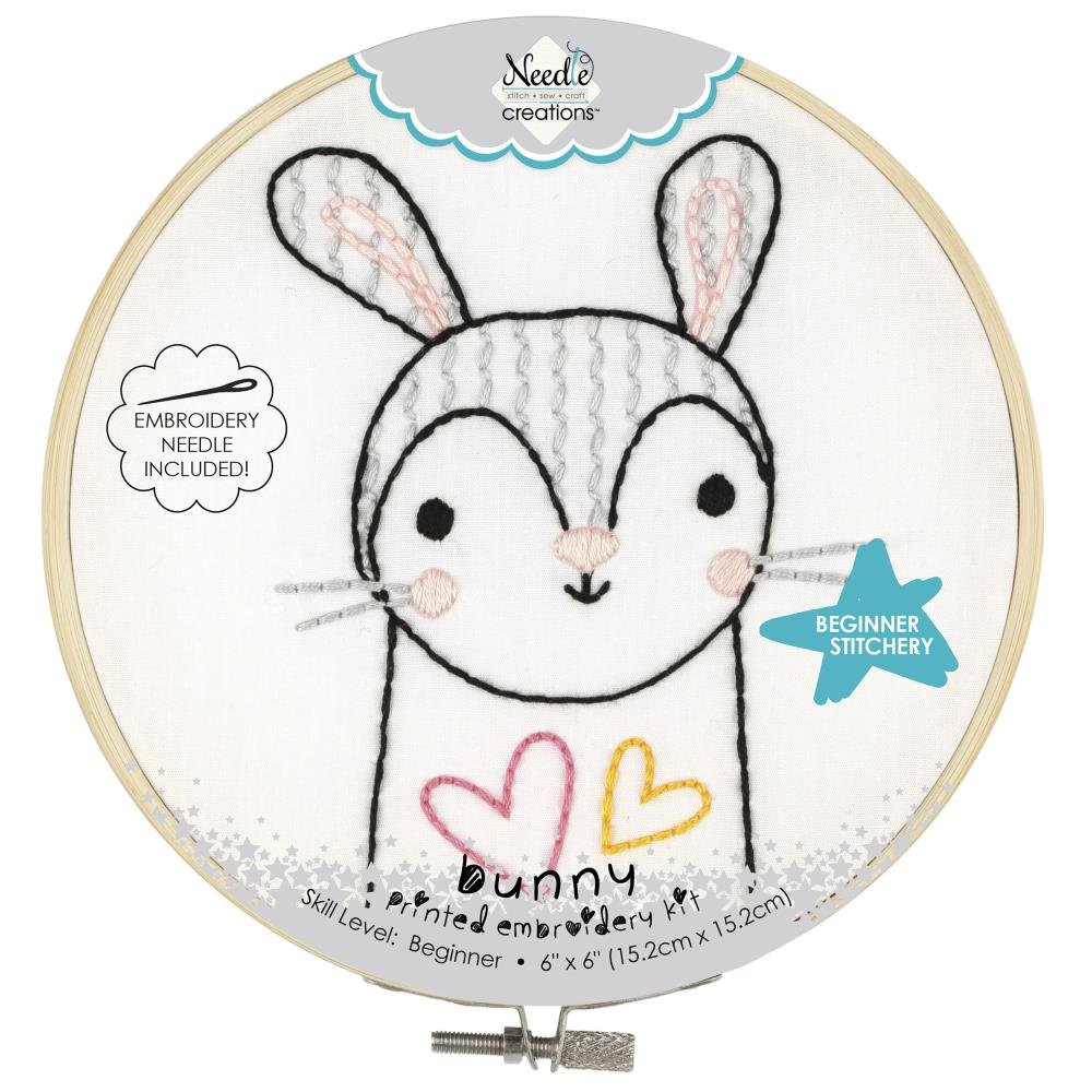 Fabric Editions Needle Creations Easy Stitch Kits Bunny