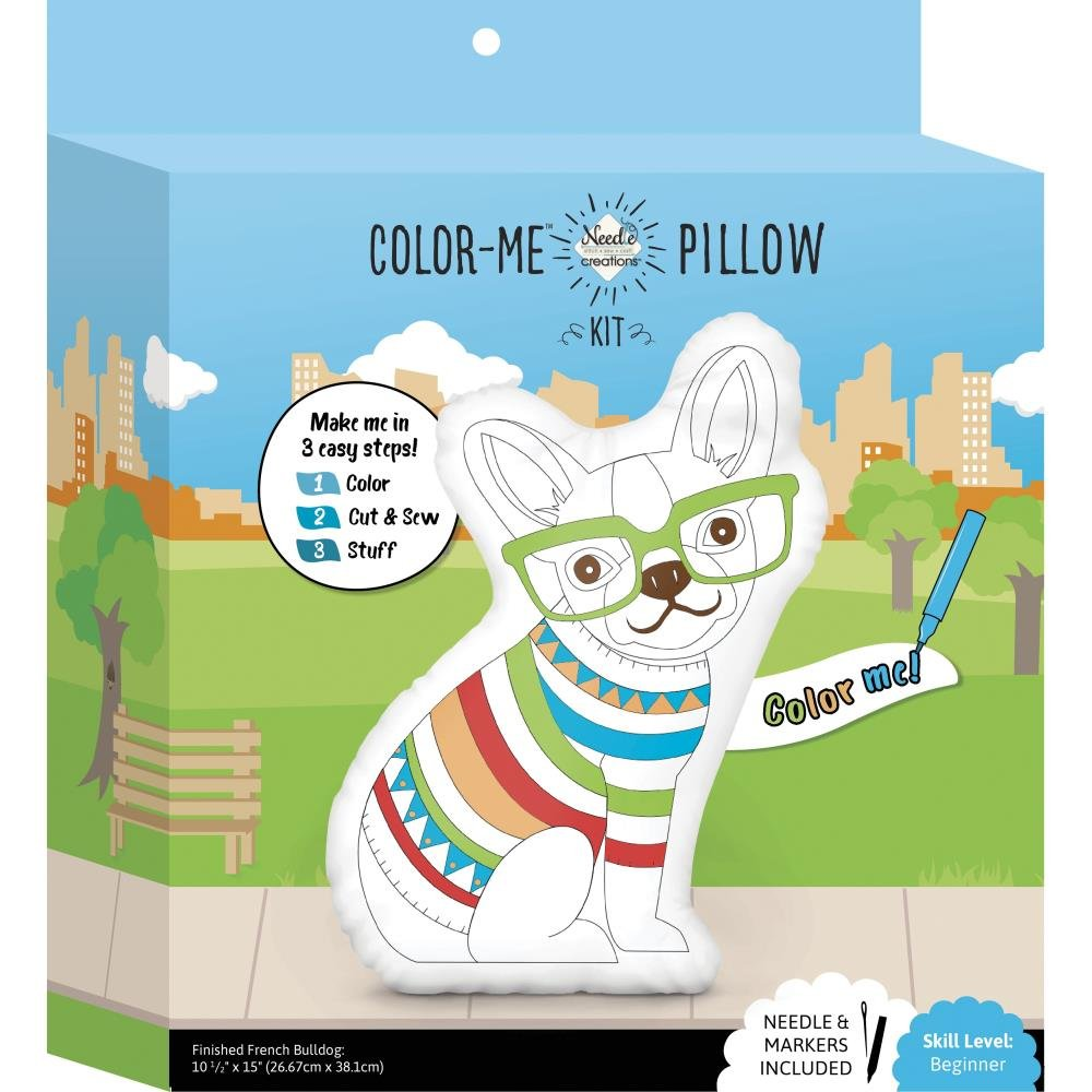 Fabric Editions Needle Creations Color Me Pillow Kit